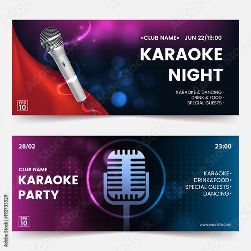 Karaoke Party Invitation Flyer Template Karaoke Tickets Dark