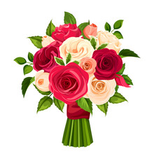 Vector Bouquet Of Red, Orange ...
