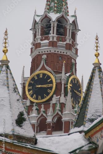 Foto op Plexiglas New York TAXI Kremlin chimes, Russia, Moscow