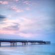 Boscombe Pier at twilight, Bournemouth, Dorset, England.