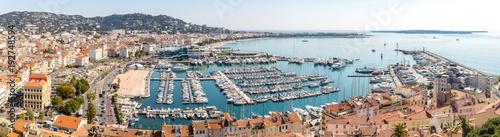 Obraz na plátně aerial view of Cannes France