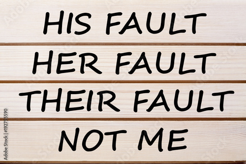 His Her Their and Not Me Fault Concept Canvas Print
