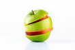 Green and red apple mix