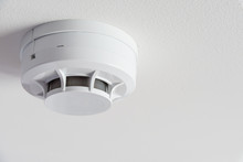 Close Up Smoke Detector On A C...