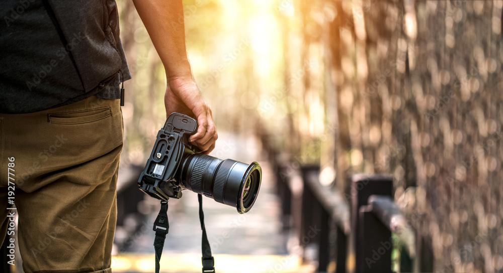 Fototapeta Nature Photography Concepts Professional photographer - obraz na płótnie