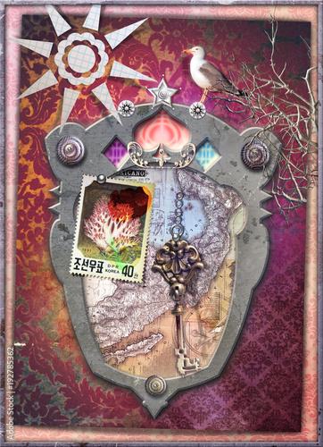 Poster Imagination Finestra fantastica sui sogni con chiave d'oro