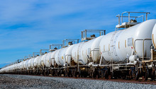 Set Of Train Tanks With Oil An...
