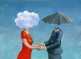 made for each other surrealism illustration love - 192799539