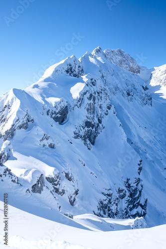 Papiers peints Alpes Hochblassen und Grieskarscharte im Schnee