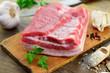 canvas print picture - Schweinebauch