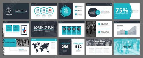 Fotografie, Obraz  Presentation templates with infographics elements