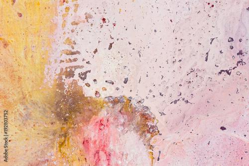Printed kitchen splashbacks Butterflies in Grunge Pink, orange and beige abstract art painting. Oil painting.