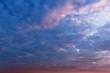 a fabulous evening landscape sky / Cumulus clouds overhead that is not always notice