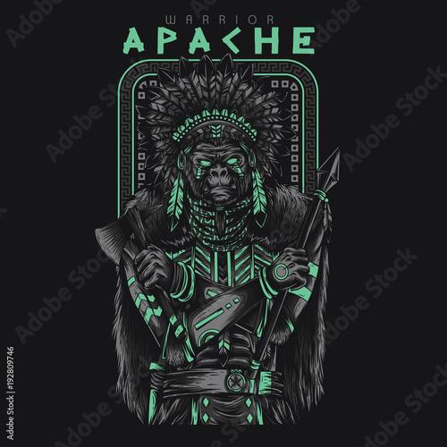 Photo Apache Warrior