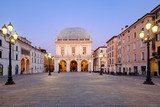 Brescia italian city near Garda lake main square called piazza loggia