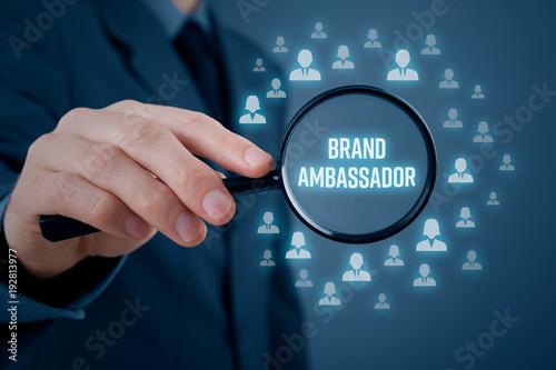 Brand ambassador concept Wallpaper Mural
