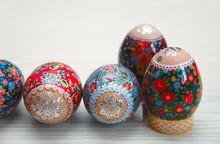 Easter Egg, Flower Design / Closeup Of Easter Egg