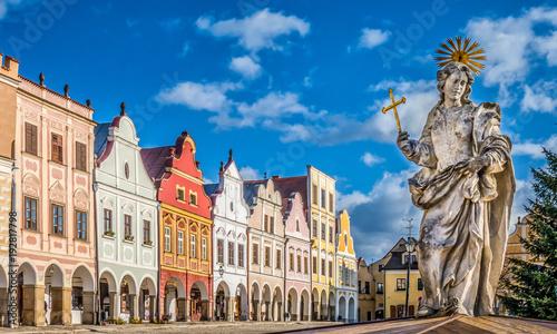 Historic town of Telc, Czech Republic Canvas Print