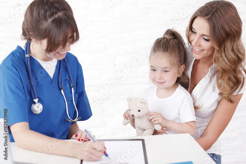 Plakat Pediatra i rodzina