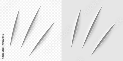 Fotografia, Obraz Vector realistic cut with a office knife