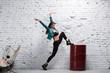 Female hip hop dancer dancing contemporary dance