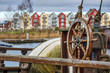 Steering wheel of an old vessel in Greifswald (Germany)
