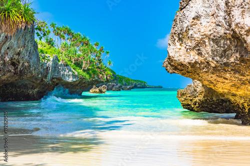 Fototapeta Beach view. Zanzibar, Tanzania. obraz
