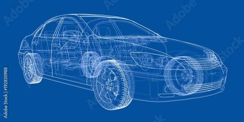 Fototapeta Concept car. Vector obraz