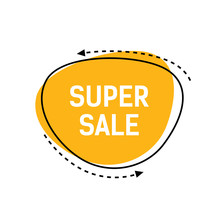 Super Sale Lettering On Yellow...