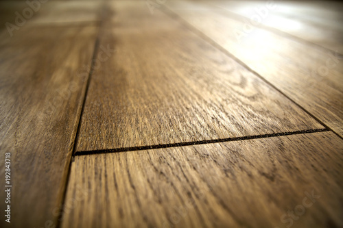Fotografie, Obraz  Natural brown texture wooden parquet floor boards