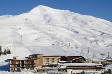 Ski Slopes In The Ski Resort O...