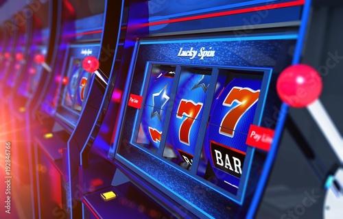 фотография  Row of Slot Machines 3D