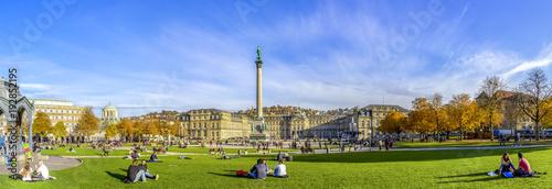 Foto auf Leinwand Europäische Regionen Stuttgart, Schlossplatz
