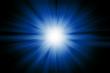 Blue light burst explosion for background