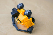 Construction Machinery. Inverted Toy Excavator.