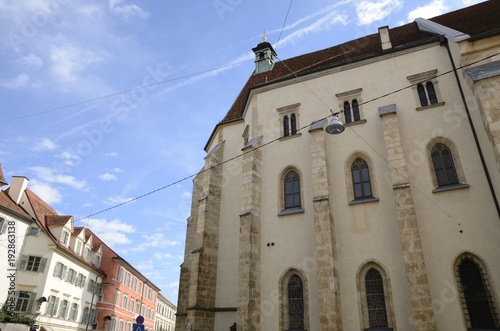 Foto op Canvas Monument Lateral view of Graz cathedral, Austria