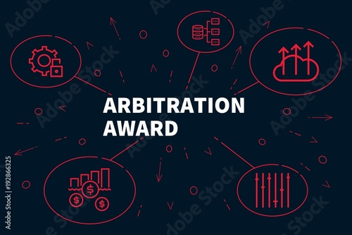 Business illustration showing the concept of arbitration award Canvas Print