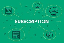 Business Illustration Showing The Concept Of Subscription