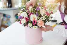 Woman Florist Making A Beautif...