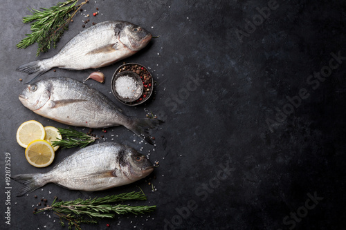 Poster de jardin Poisson Raw dorado fish
