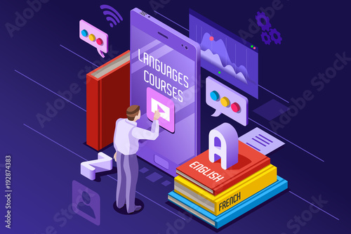 Learning From Textbook This Is A Foreign Concept Vector Illustration E And Teaching