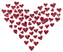 Ruby Hearts Shape