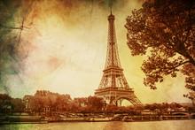 Eiffel Tower, Vintage. Selecti...