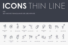 KITE Thin Line Icons