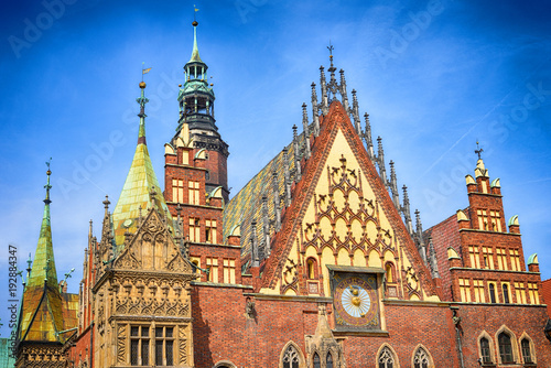fototapeta na ścianę Wroclaw city hall architectur europe Poland