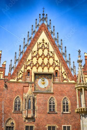 fototapeta na ścianę Breslau Wroclaw Poland City Hall Detail