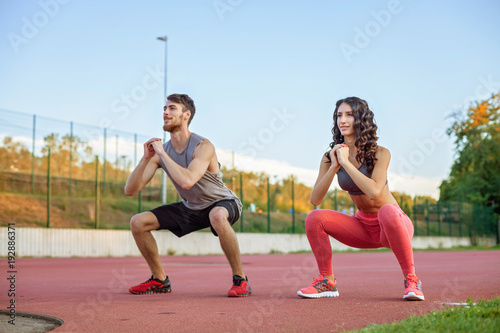 Fotografija  Couple exercising