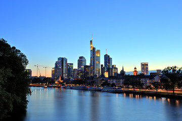 Fototapeta na wymiar Frankfurt am Main Downtown Cityscape