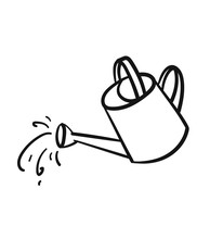 Watering Can Sketch Icon For W...