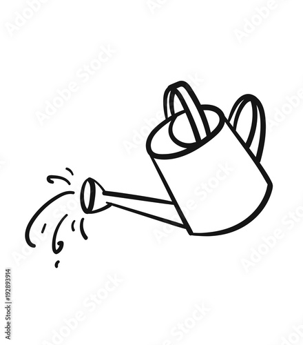 Obraz Watering can sketch icon for web, mobile and infographics. Hand drawn Watering can vector icon isolated on white background. - fototapety do salonu